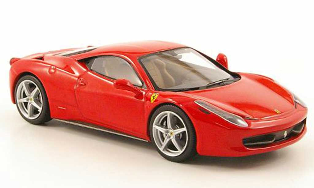 Ferrari 458 Italia 1/43 Hot Wheels Elite rouge (Elite) 2009 miniature