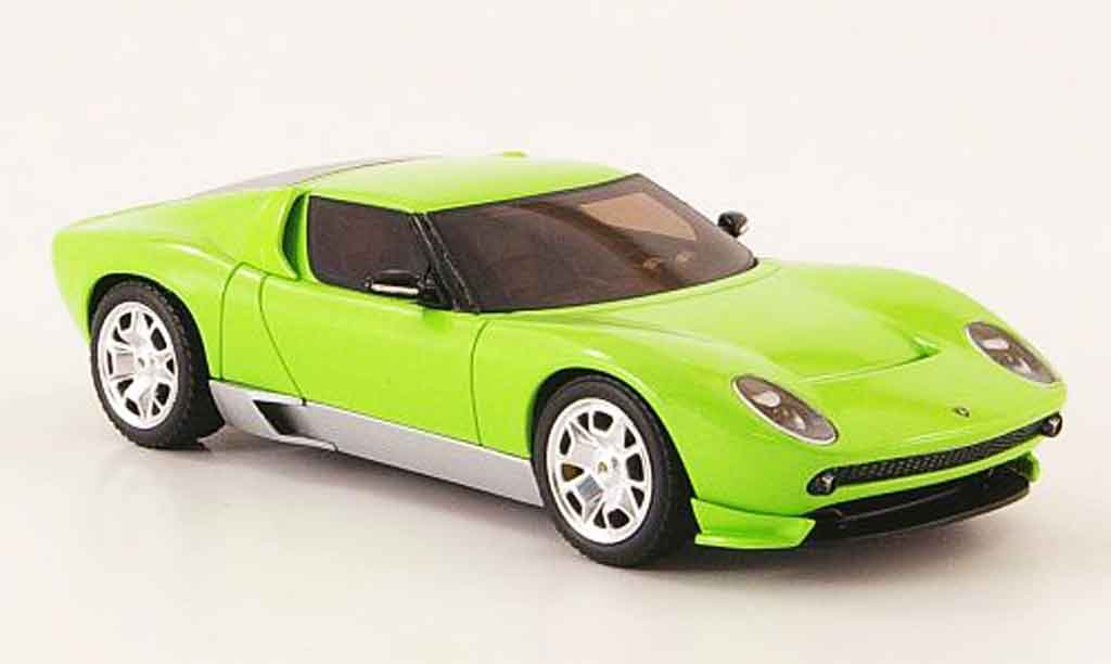 Lamborghini Miura Concept 1/43 Hot Wheels Elite grun miniature