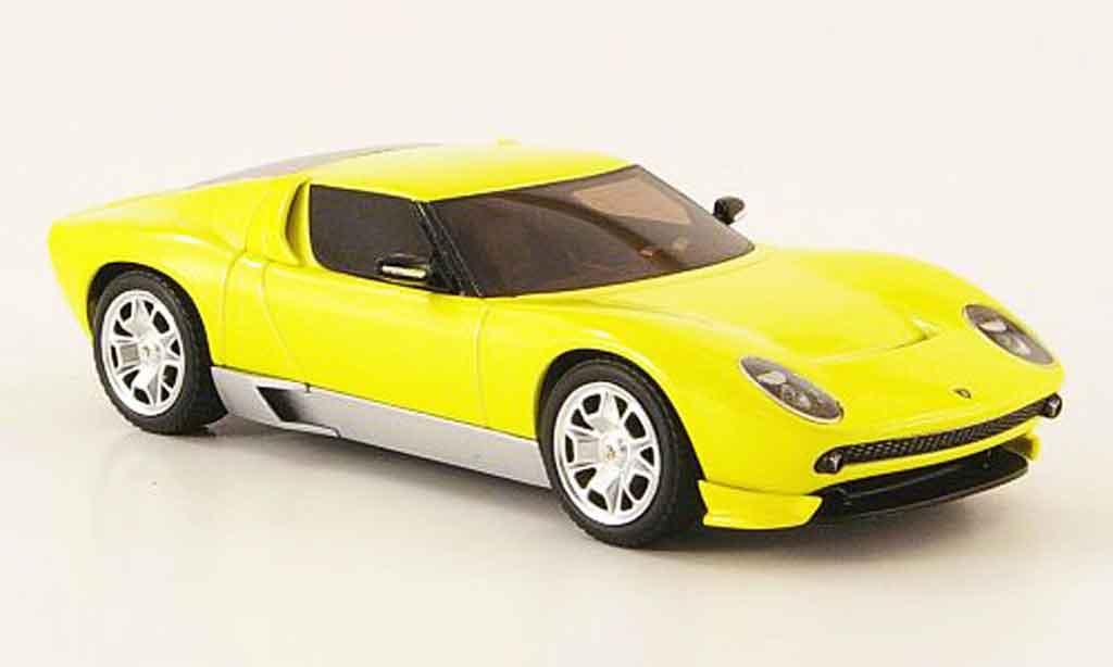Lamborghini Miura Concept 1/43 Hot Wheels Elite jaune miniature