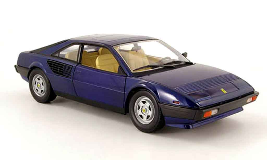 Ferrari Mondial 1/18 Hot Wheels 8 bleu 1980 miniature