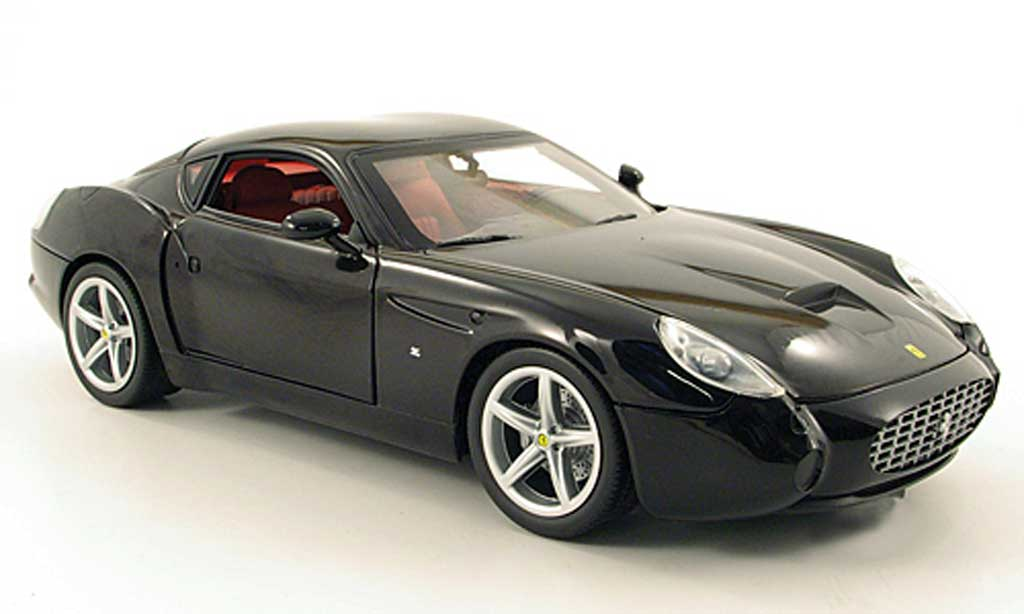Ferrari 575 GTZ 1/18 Hot Wheels zagato noire miniature