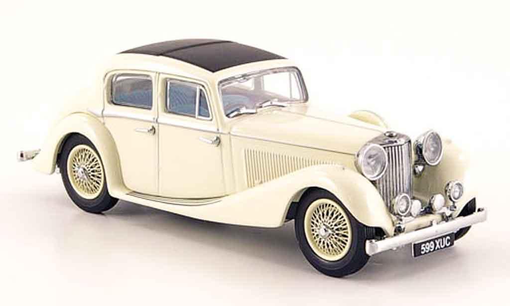 Jaguar SS 1/43 Oxford 2.5 saloon creme miniature