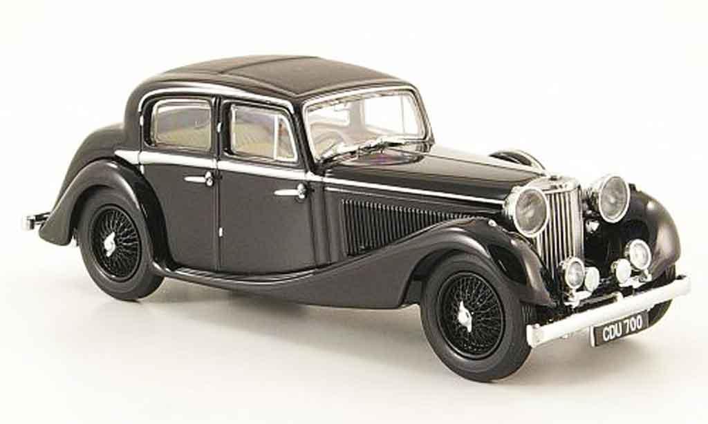 Jaguar SS 1/43 Oxford 2.5 saloon noire miniature