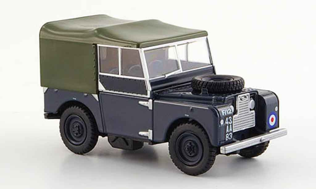 Land Rover 80 1/43 Oxford RAF bleu oliv miniature