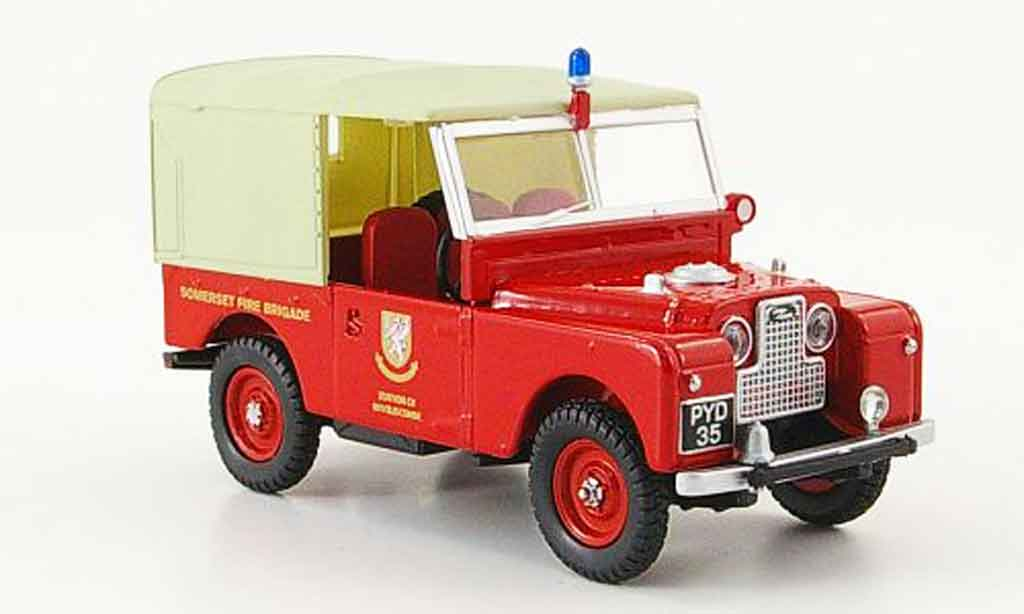 Land Rover 88 1/43 Oxford Sommerset Fire Brigade pompier miniature