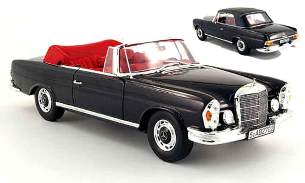 Mercedes 280 1969 1/18 Norev se (w 111) cabriolet noire miniature