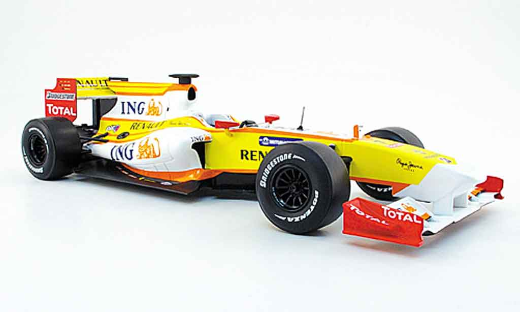 Renault F1 1/18 Norev r 29 no.7 ing f.alsonso 2009 miniature