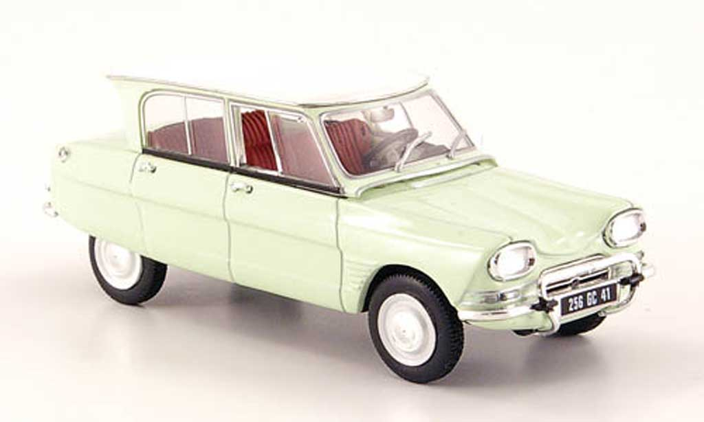 Citroen Ami 6 1/43 Norev la chaux avec blancheem toit  1967 miniature