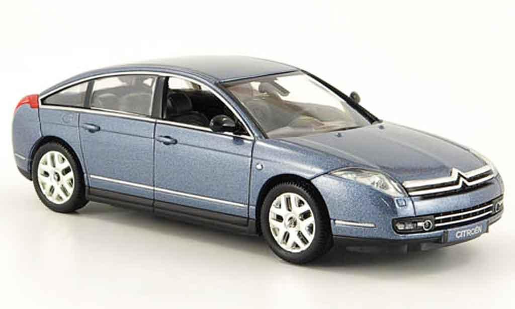 Citroen C6 1/43 Norev bleu grey 2005 diecast model cars