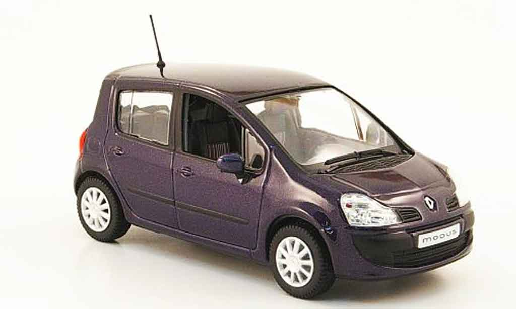 renault modus miniature lila 2007 norev 1 43 voiture. Black Bedroom Furniture Sets. Home Design Ideas