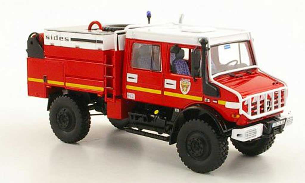 mercedes unimog miniature u 5000 doka pompiers feuerwehr f 2005 norev 1 43 voiture. Black Bedroom Furniture Sets. Home Design Ideas