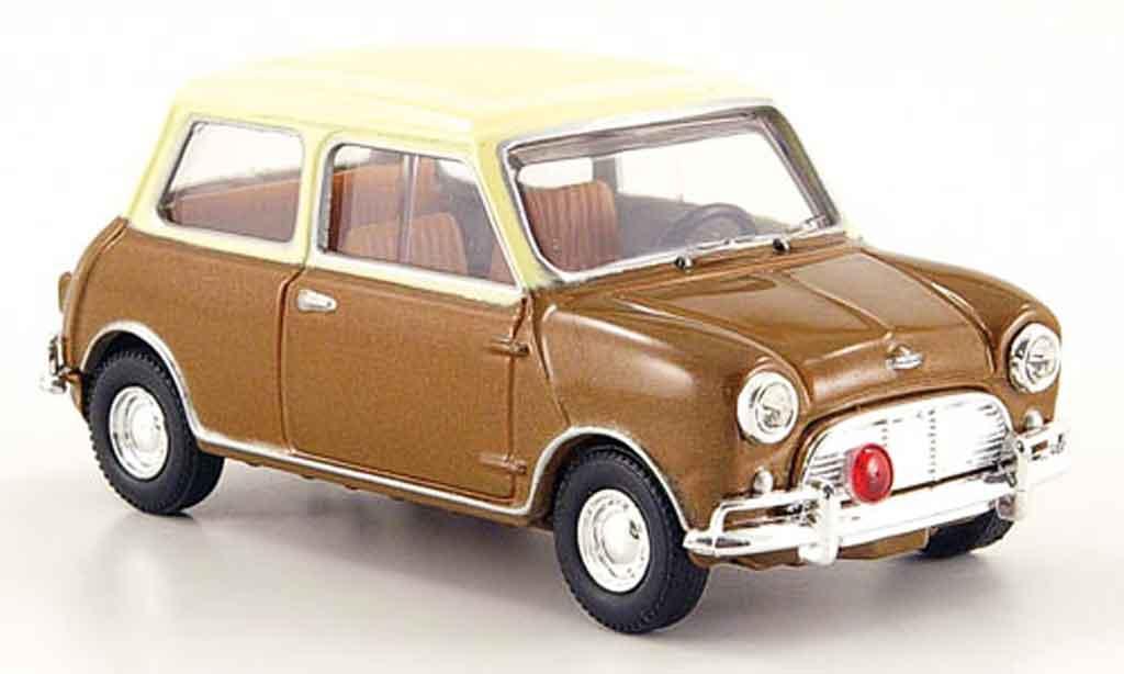 Austin Mini Cooper S 1/43 Vanguards MK I marron beige Steve McQueen miniature