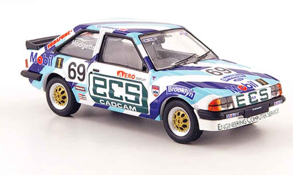 Ford Escort RS 1600 1/43 Vanguards i No.69 ECS Brooklyn BSCC 1985 MK3 miniature