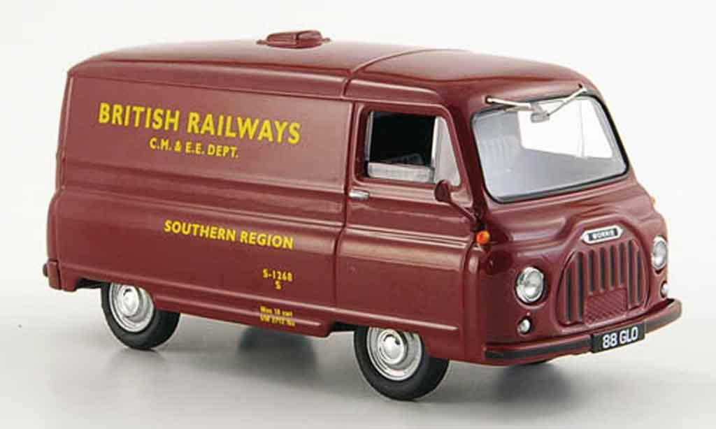 Morris J2 1/43 Vanguards Van  rouge British Railways Region Sud 1962 miniature