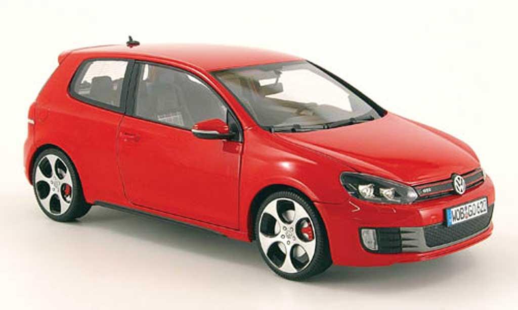 Volkswagen Golf VI GTI 1/18 Norev rouge 3 portes 2009 miniature