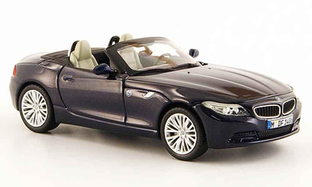 Bmw Z4 E89 1/43 Minichamps Roadster  bleu 2009 miniature
