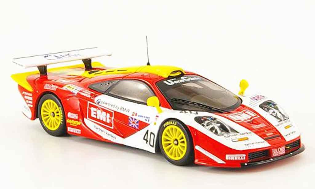 McLaren F1 GTR 1/43 IXO No.40 EMI 24h Le Mans 1998 miniature