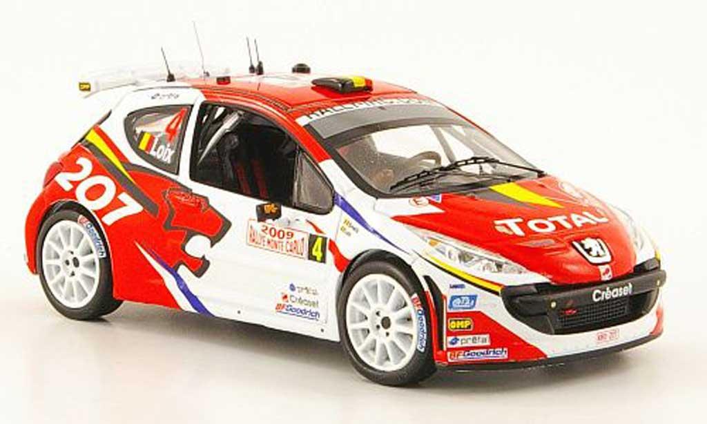 Peugeot 207 S2000 1/43 IXO No.4 Total Rally Monte Carlo 2009 F.Loix / I.Smets miniature