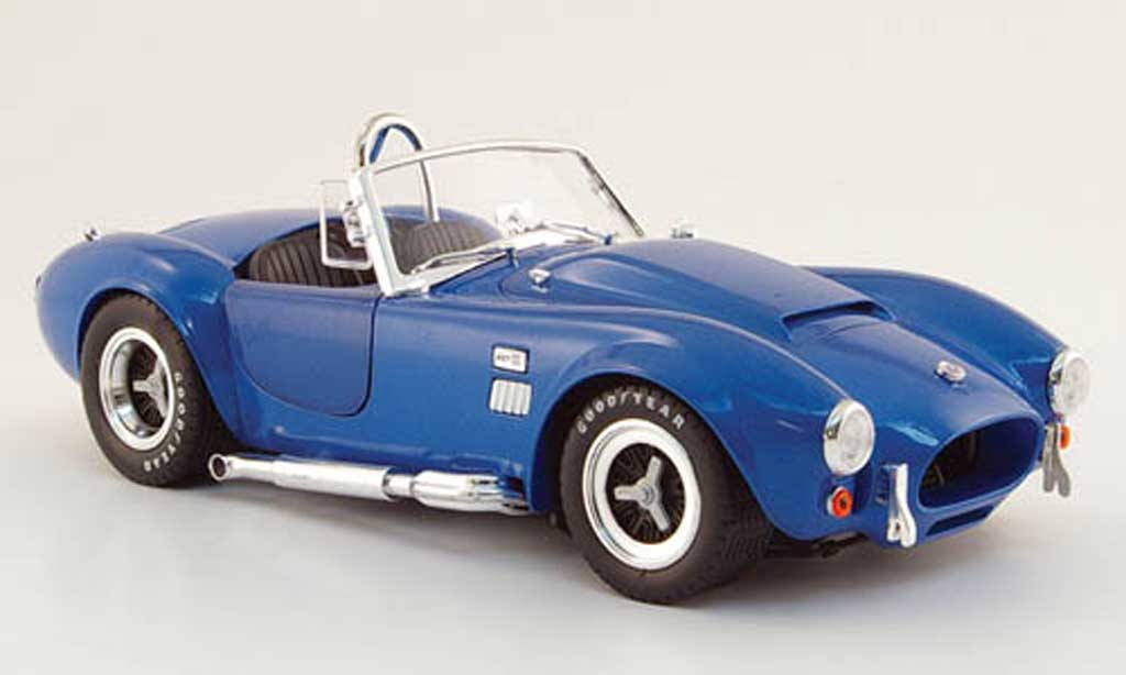 Shelby Ac Cobra 1/18 Shelby Collectibles 427 super snake bleu 1966 miniature
