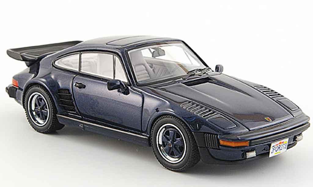 Porsche 930 Turbo 1/43 Neo SE Flatnose bleu 1987