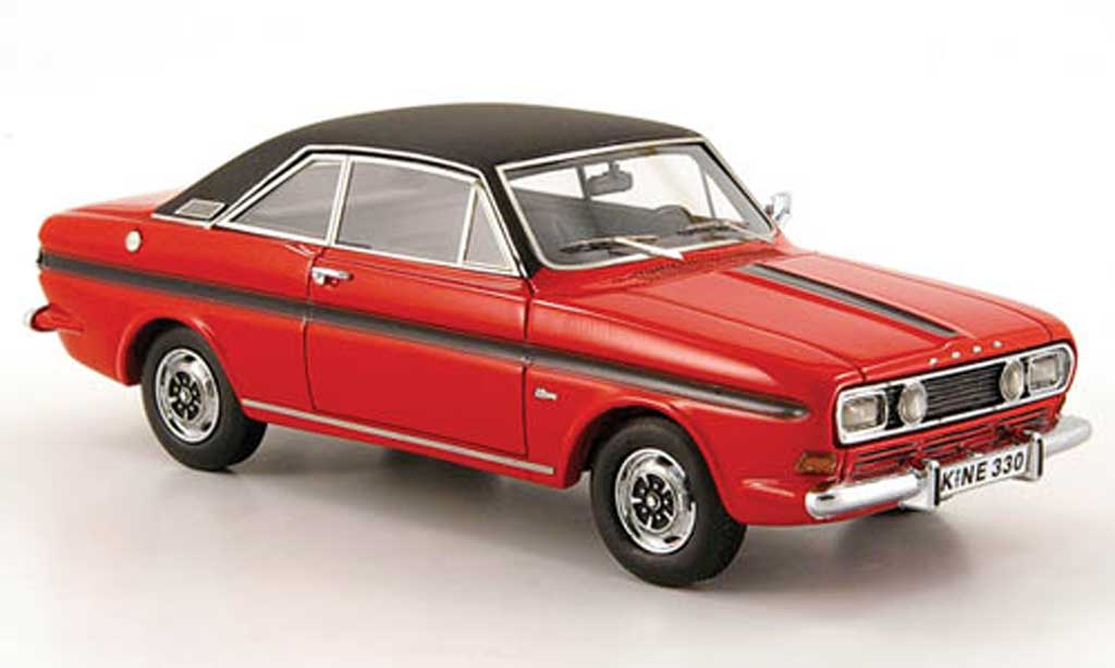 Ford Taunus 1968 1/43 Neo (P6) 15M  Coupe rouge miniature
