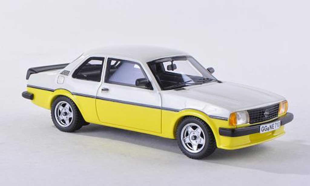 Opel Ascona B 1/43 Neo i2000 jaune/blanche 2-turig 1980 miniature