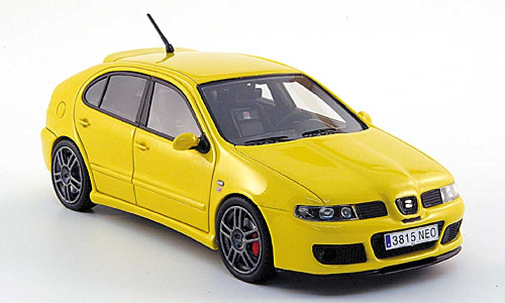 seat leon cupra miniature mki r jaune 2003 neo 1 43 voiture. Black Bedroom Furniture Sets. Home Design Ideas
