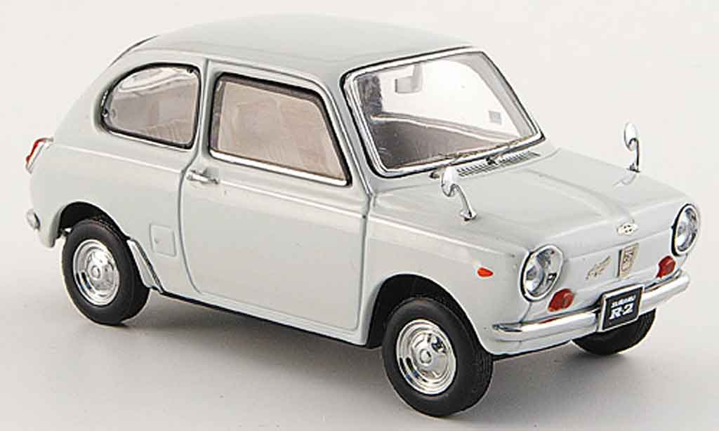 Subaru R2 1/43 Ebbro super deluxe blanche 1969 miniature