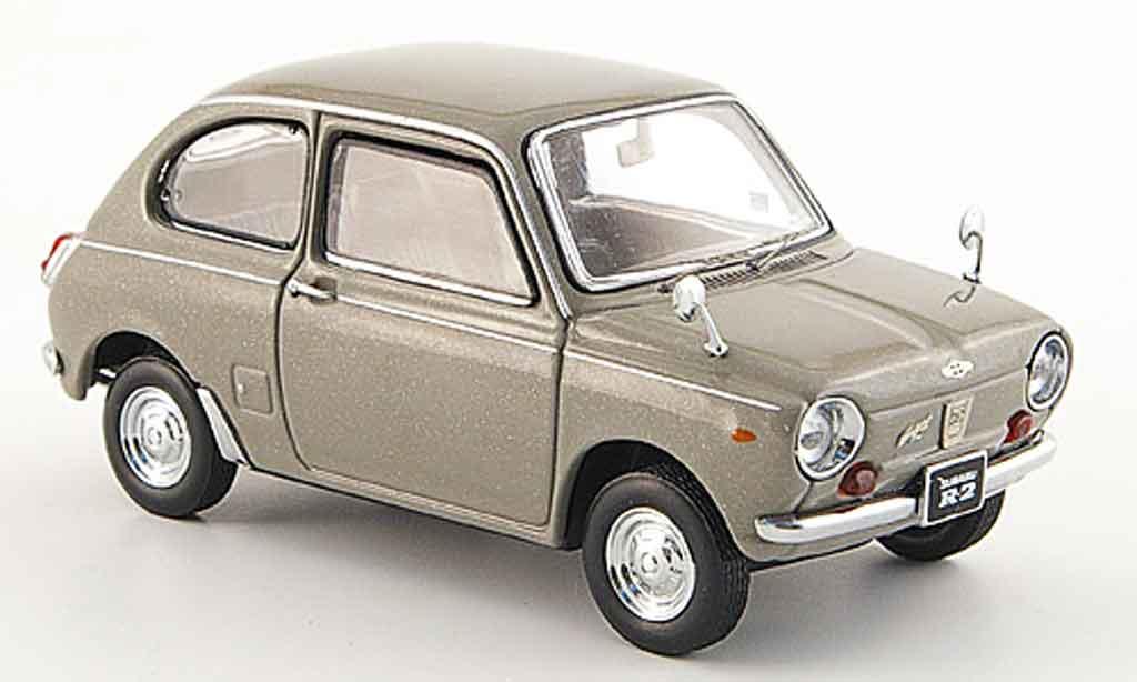 Subaru R2 1/43 Ebbro super deluxe grise 1969 miniature