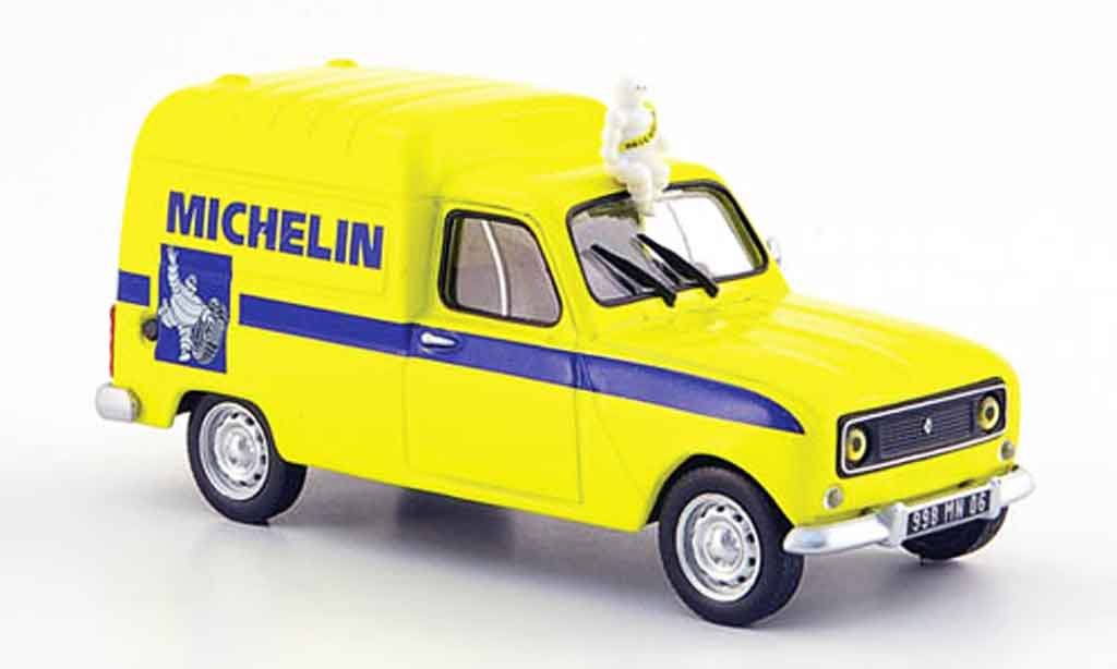 Renault 4l 6 Yellow Michelin Mcw Diecast Model Car 1 43