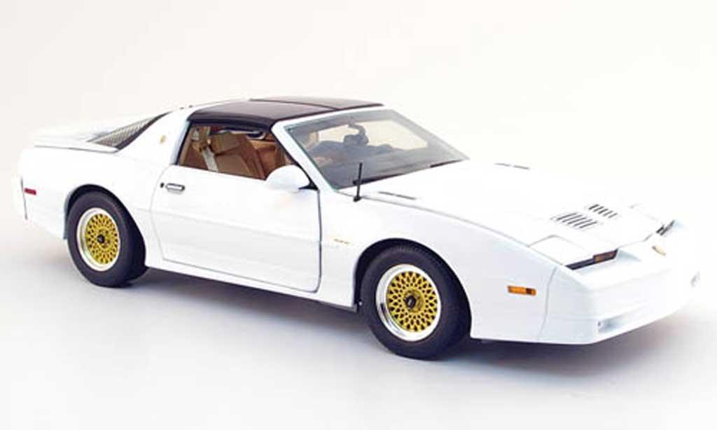 Pontiac Trans Am 1/18 Greenlight turbo (tta) blanche 1989 miniature