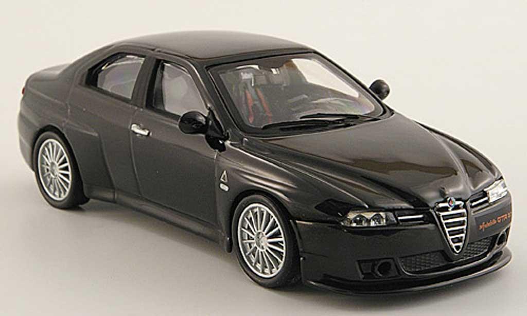 Alfa Romeo 156 GTA 1/43 M4 3.7 Autodelta black diecast model cars