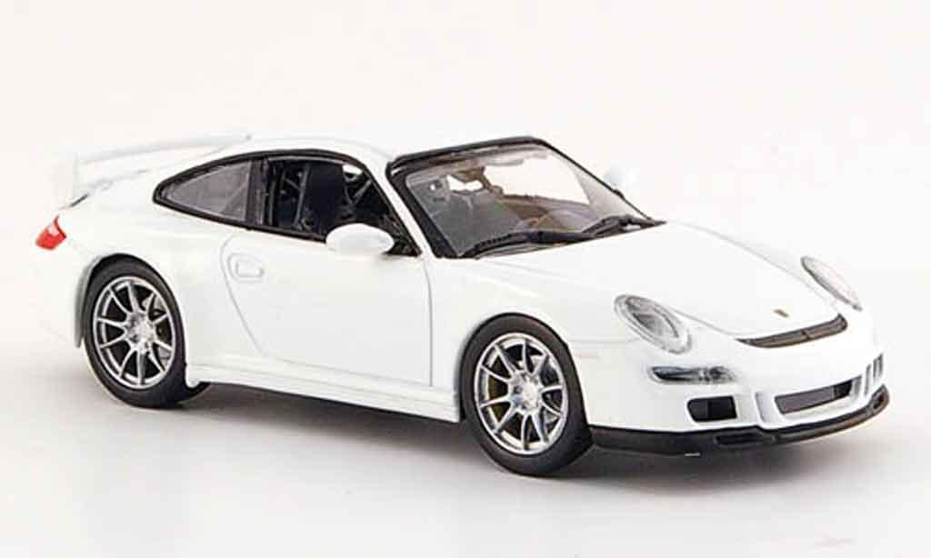 Porsche 997 GT3 1/43 Yat Ming blanche miniature