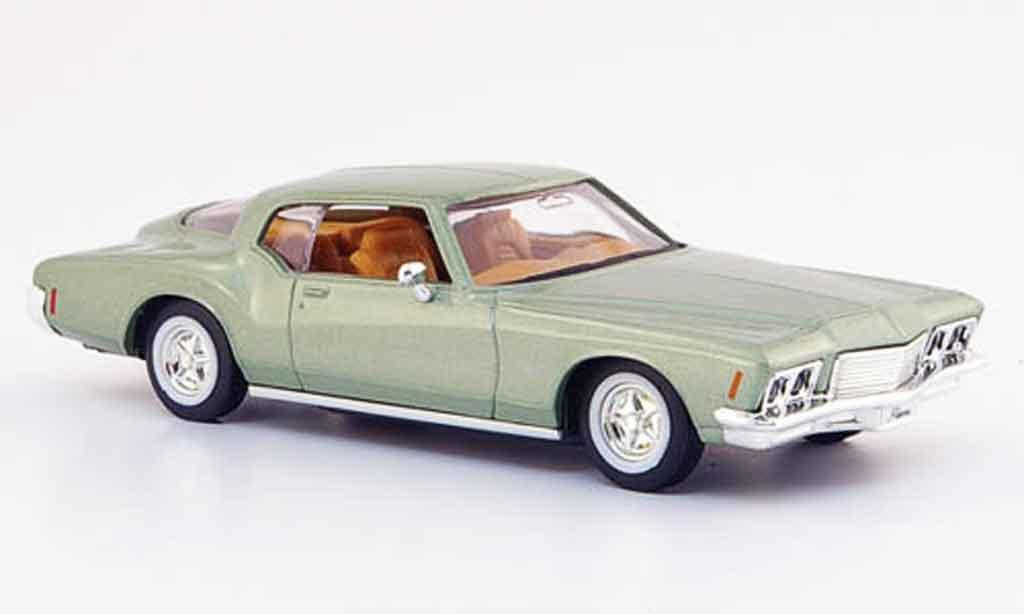 Buick Riviera 1971 1/43 Yat Ming GS verte miniature