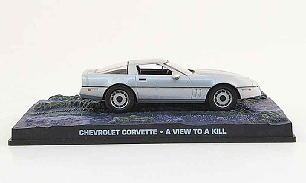 chevrolet corvette 1987 gray james bond 007 mcw diecast model car 1 43 buy sell diecast car on. Black Bedroom Furniture Sets. Home Design Ideas