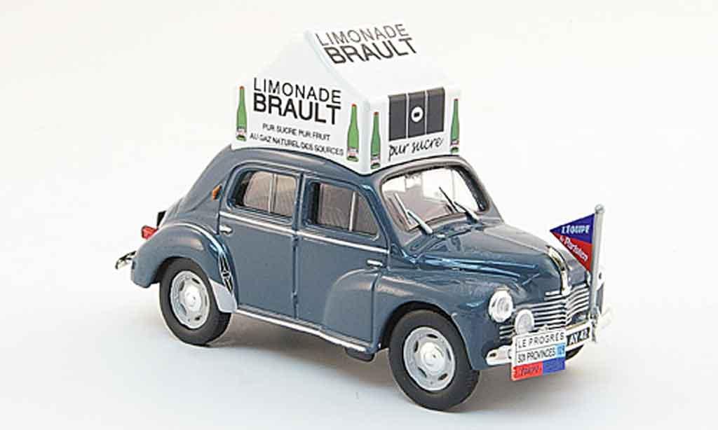 Renault 4CV 1/43 Eligor grise limonade couzan brault 1953 miniature