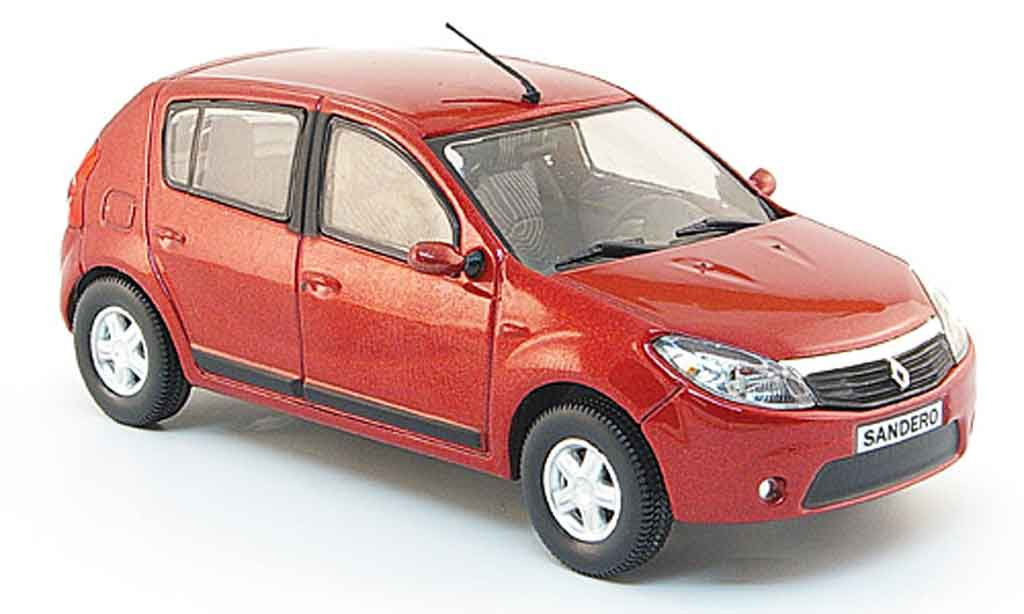 renault dacia sandero miniature rouge 2008 eligor 1 43 voiture. Black Bedroom Furniture Sets. Home Design Ideas
