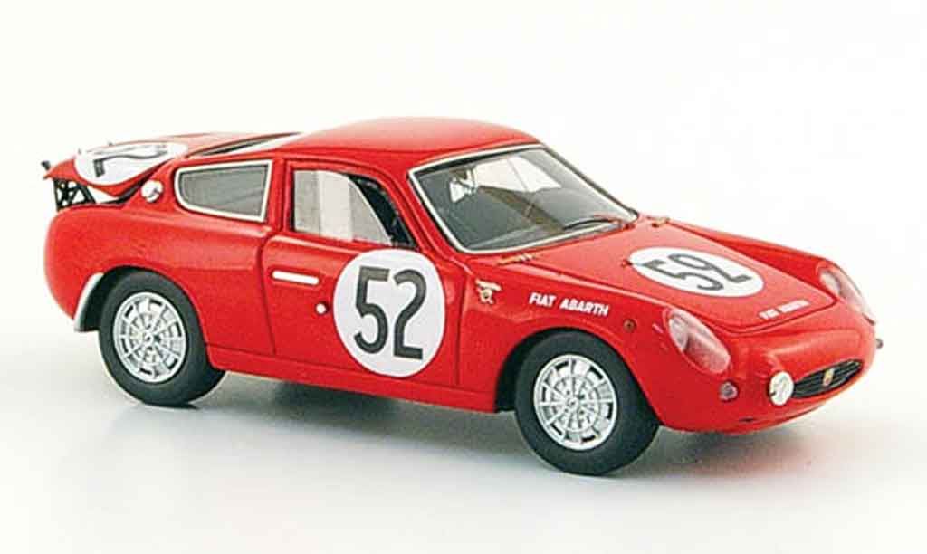 Fiat 700 1/43 Spark Abarth S No.52 Demetz Bianchi 24h Le Mans 1962 miniature