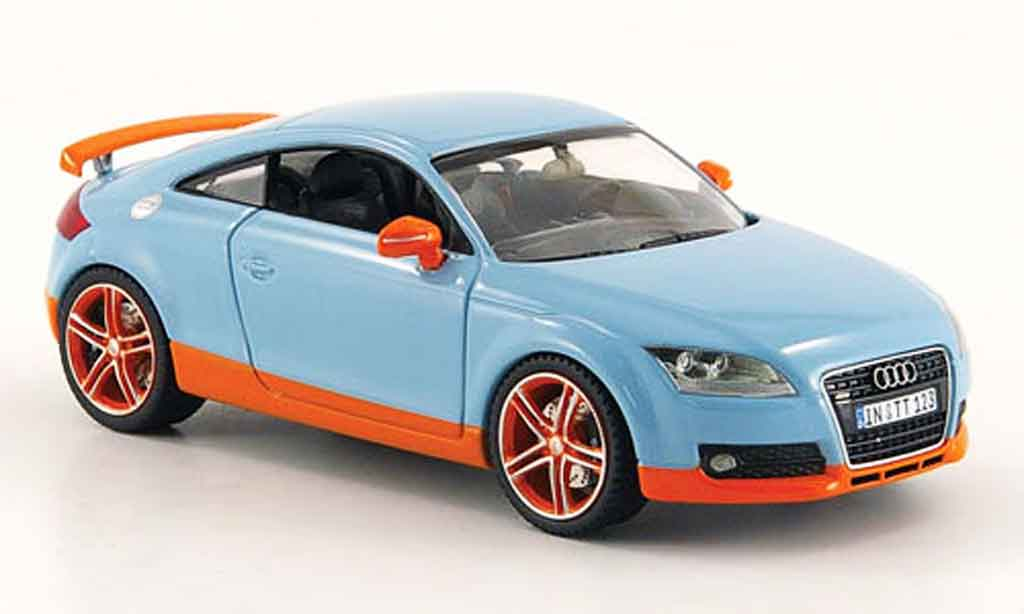 Audi TT coupe 1/43 Schuco bleu orange miniature