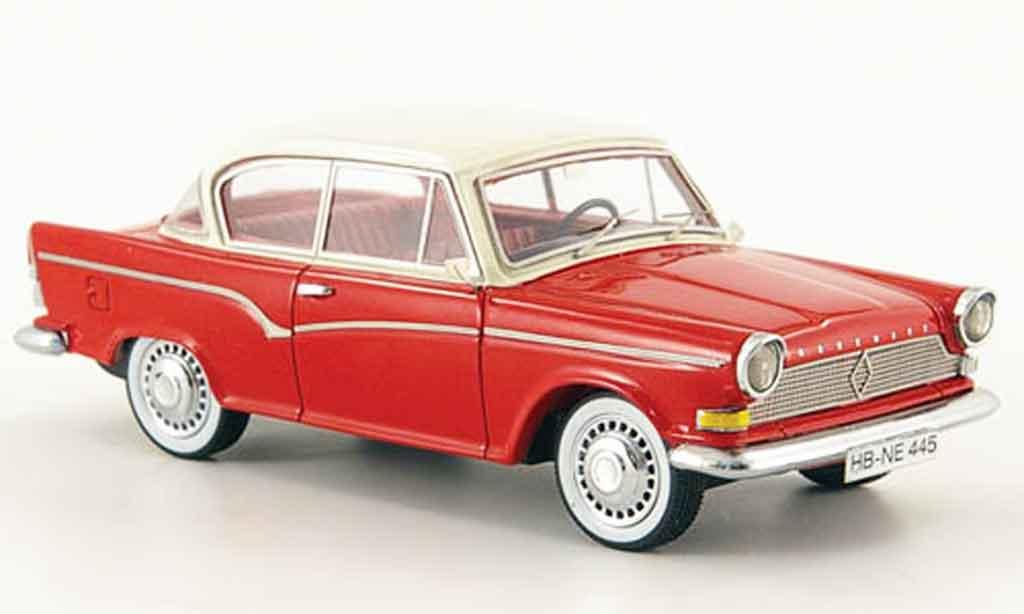 Borgward Arabella 1/43 Neo de Luxe rouge blanche 1960 miniature