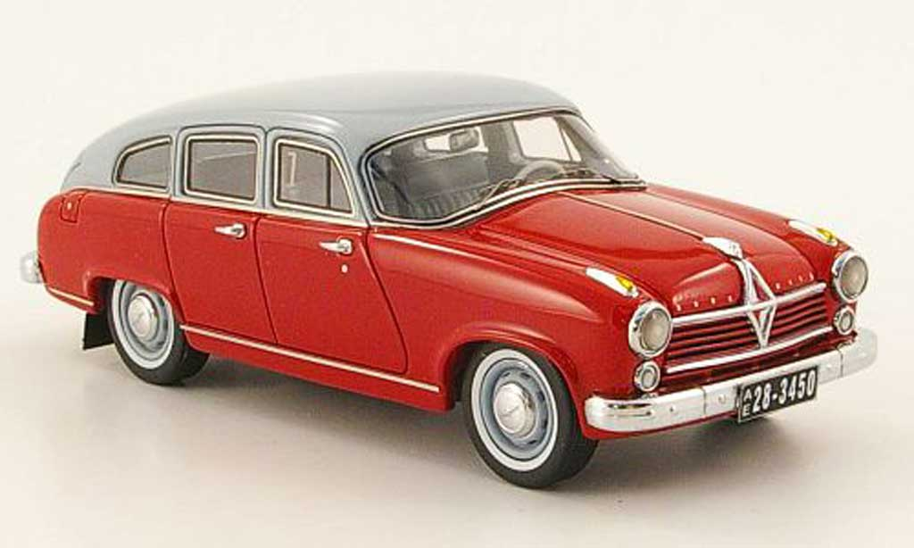 Borgward Hansa 2400 1/43 Neo rouge/grise 1955 miniature