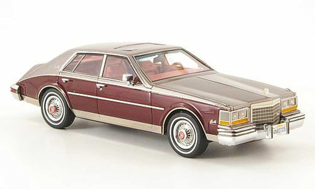 Cadillac Seville 1981 1/43 Neo Mk II gris/noire-rouge miniature