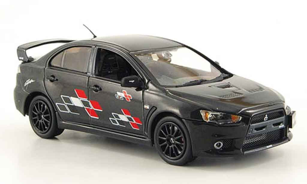 mitsubishi lancer evolution x ralliart schwarz vitesse modellauto 1 43 kaufen verkauf. Black Bedroom Furniture Sets. Home Design Ideas