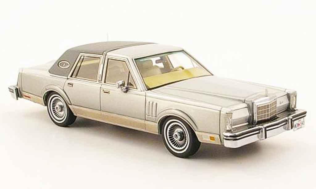 Lincoln Continental 1979 1/43 Neo MK VI grise miniature