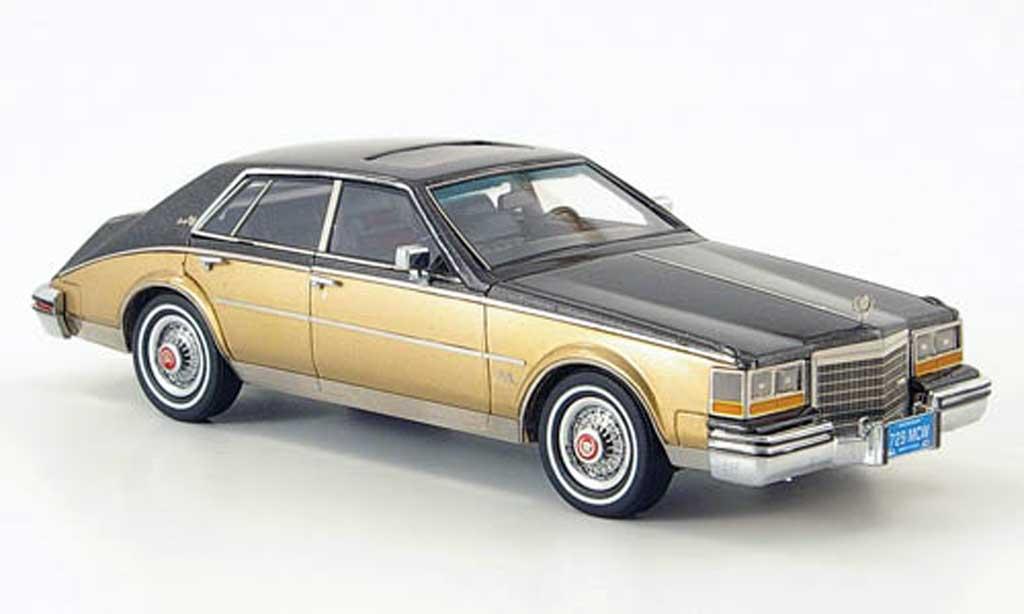 Cadillac Seville 1981 1/43 American Excellence Mk II noire-gris/dore limite. edition 500 miniature