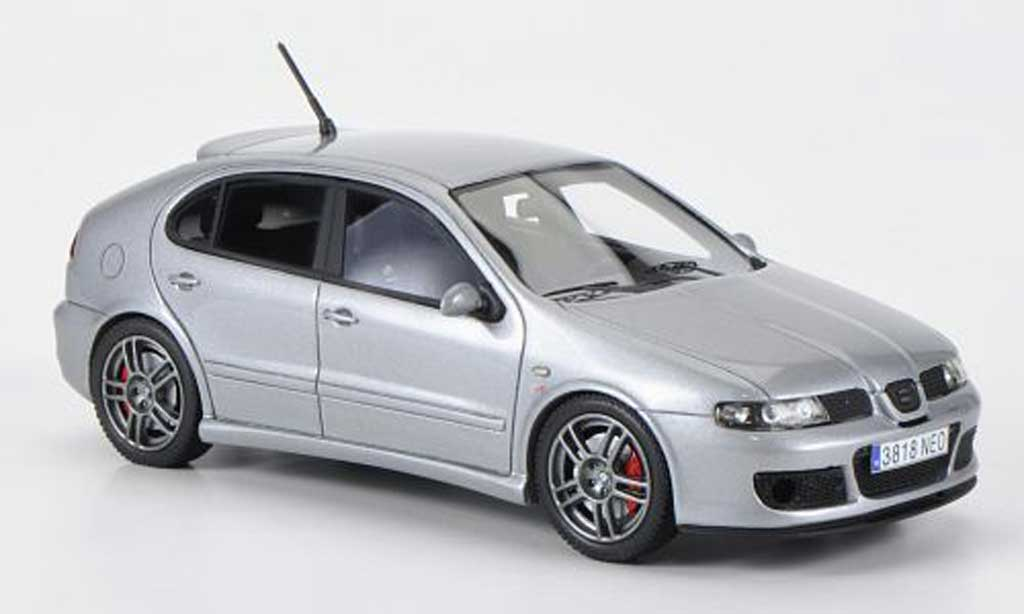 seat leon cupra miniature mk i r grise 1997 neo 1 43 voiture. Black Bedroom Furniture Sets. Home Design Ideas