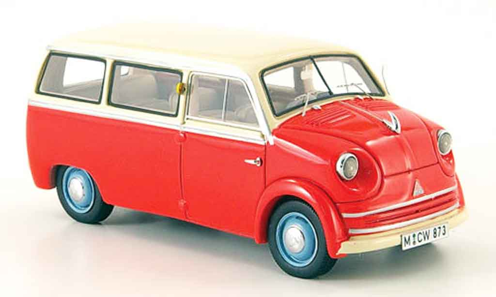 Lloyd LT 1/43 Neo 500 600 rouge blanche 1955 miniature