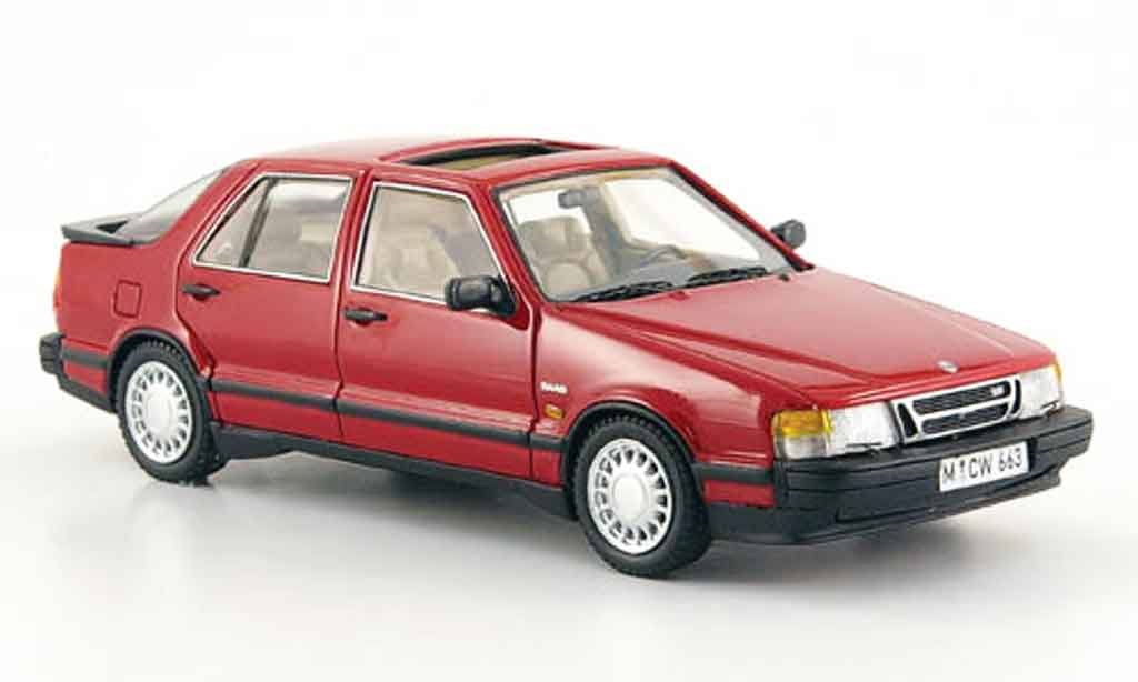Saab 9000 Turbo 1/43 Neo rouge edition liavecee 300 miniature