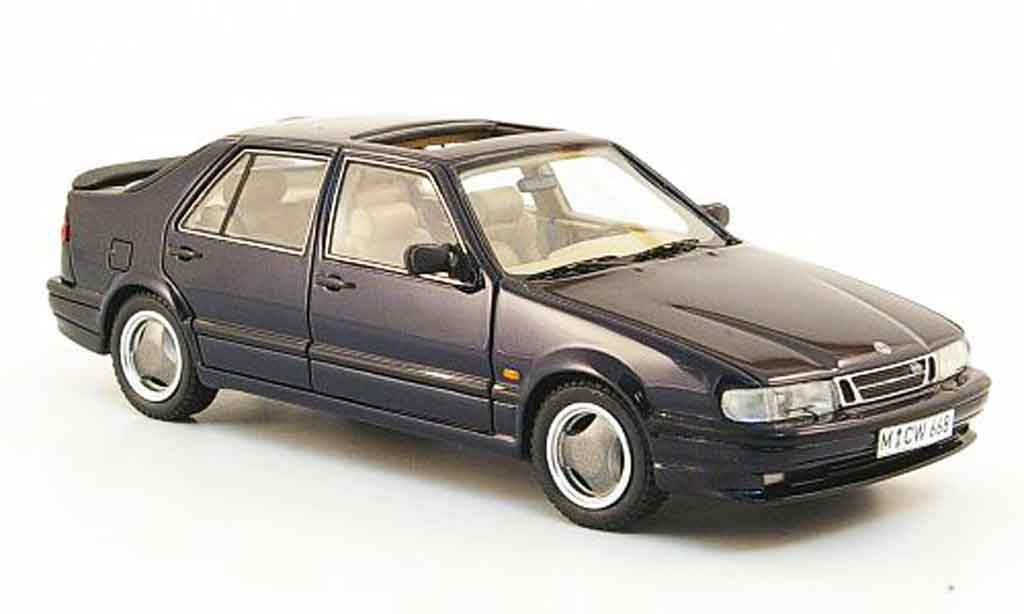 Saab 9000 CS 1/43 Neo bleu edition liavecee 300 1992 miniature