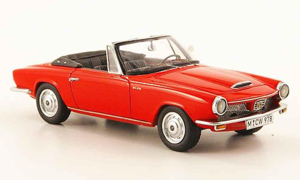 Glas 1300 1/43 Neo GT Cabriolet rouge 1966 miniature